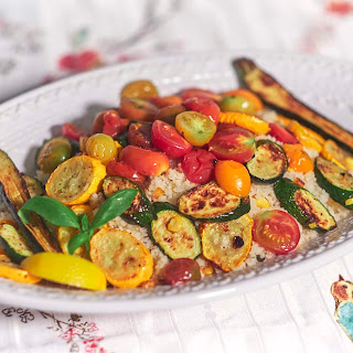 Pan Roasted Vegetables over Couscous.