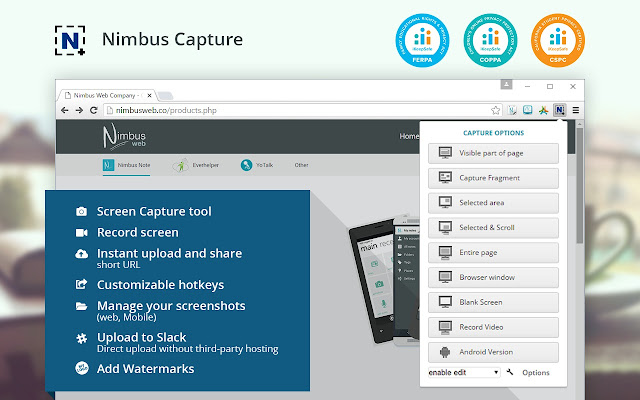 Nimbus Screenshot & Screen Video Recorder Capture d'écran