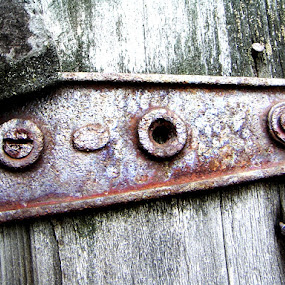 Old Hinge  by Nikki Scott - Artistic Objects Antiques ( old, door hinge, hinge, rusty )