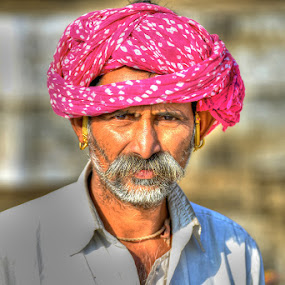 Devotee at Pushkar by Rakesh Das - People Portraits of Men