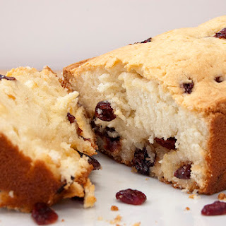 Sour Cream Pound Cake (with dried cranberries).