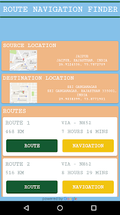 GPS Driving Route Finder screenshot