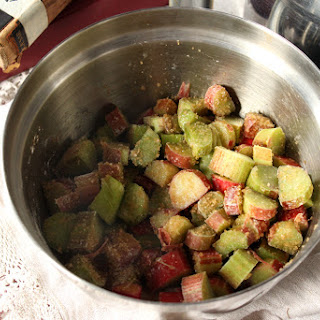 Chestnut, Rhubarb & Coconut Crisp (Gluten Free).