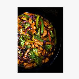 Stir-Fry Sesame Chicken (Healthy and Light).