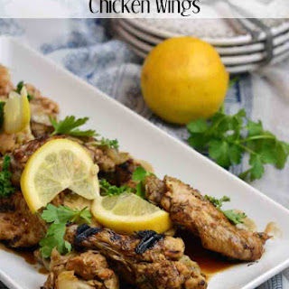 Slow Cooker Lemon and Garlic Chicken Wings.