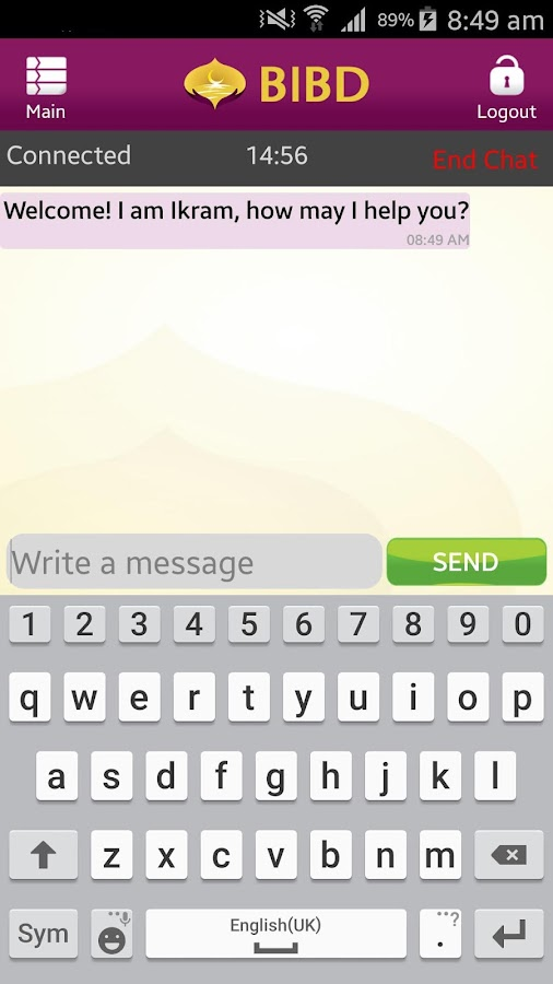 BIBD Mobile- screenshot