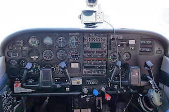 Photo: My view of the instrument panel.