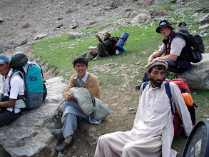 Photo: rest on the way up to Herliggkofer base camp