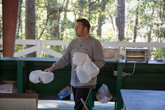Photo: Anthony worked hard serving and cleaning up