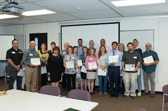 Photo: Instructors nominated for Teacher of the Year and some of the students who nominated them