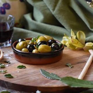 Easy Oregano Orange Marinated Olives.
