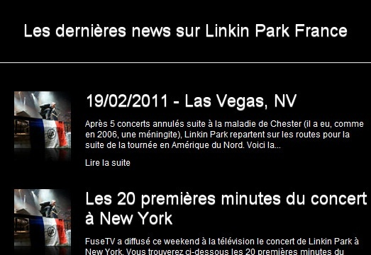 Linkin Park France - News