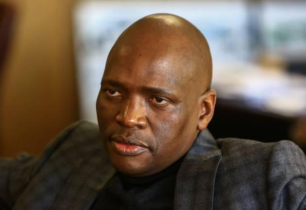 SABC COO Hlaudi Motsoeneng at his offices in Auckland Park. File photo