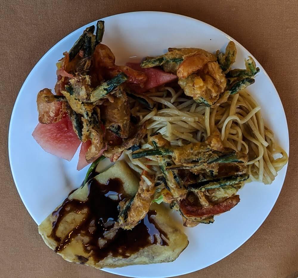 breakfast plate spring inle lodge lake inle burma