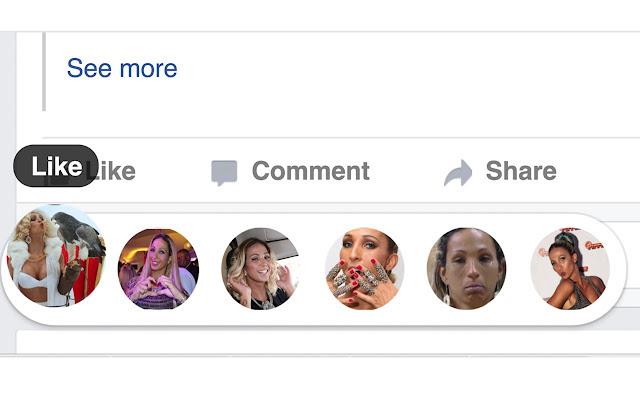 Reações da Valesca para Facebook