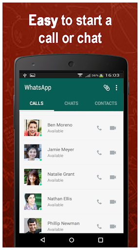 Video Calling for whatsap