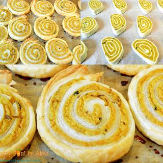 Baked Puff Samosa Pinwheels