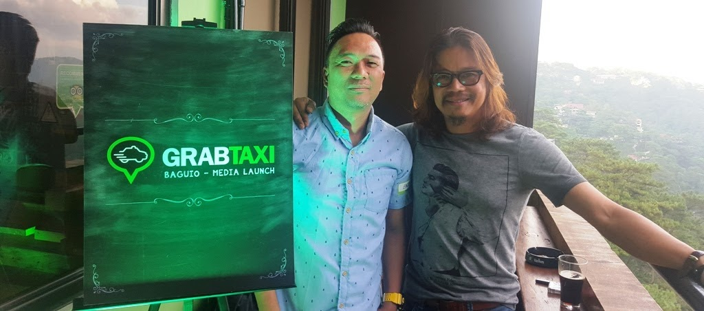 WITH CHRIS ORDAS DURING THE GRABTAXI BAGUIO MEDIA LAUNCH