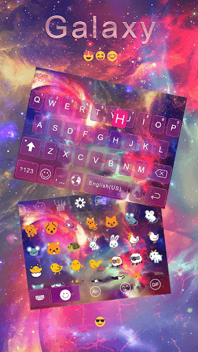 Galaxy Keyboard Theme – Delicate Phone Theme Screenshot
