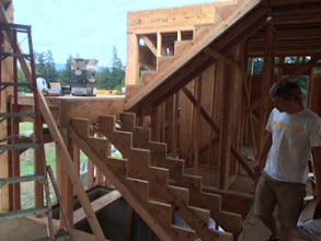 Photo: Stairs still indoors!