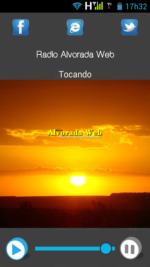 Radio Alvorada Web- screenshot