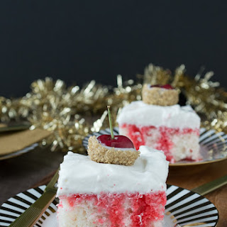 Champagne Cherry Poke Cake