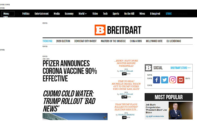 Breitbart Content Switcheroo
