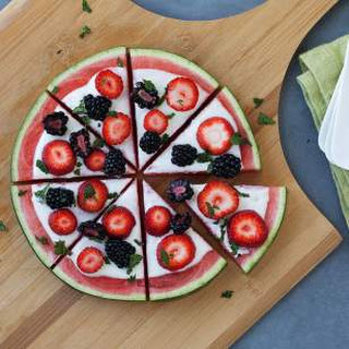 Watermelon Fruit Pizza Recipe