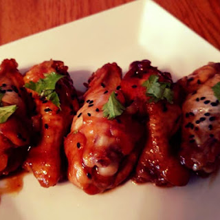 Spicy and Sweet Crock Pot Chicken Wings.