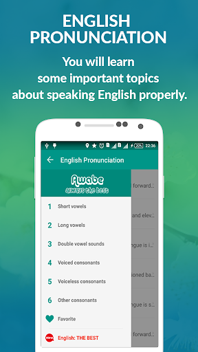 English Pronunciation - Awabe 1.1.2 screenshots 1