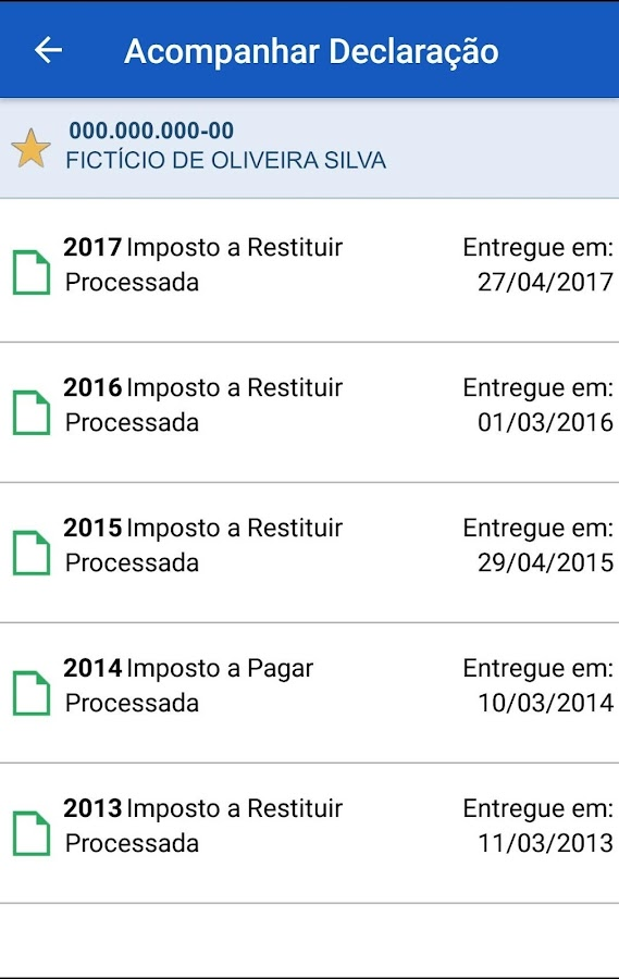 Meu Imposto de Renda- screenshot