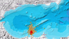 Intensa actividad sísmica en el mar de Alborán.
