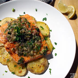 Salmon with a To-Die-For Limoncello Garlic Butter Sauce.