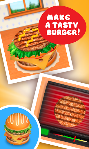 Burger Deluxe - Cooking Games apkpoly screenshots 2