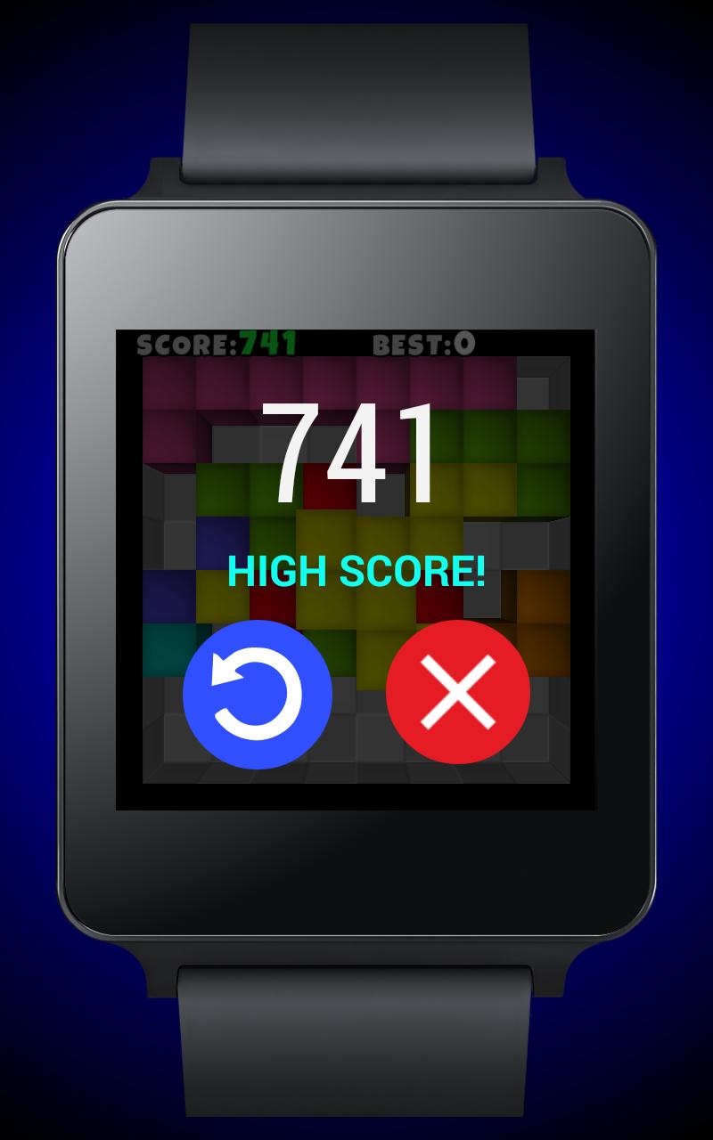 Скриншот TetroCrate 3D для Android Wear