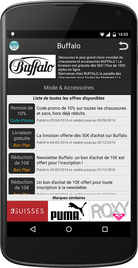 Code reduc promo bon plans android apps on google play - Code promo 3 suisses plan reduc ...