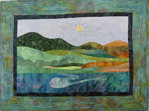 "Photo: Horizons ""Day"" A Beginner's Art Quilt creation from Mother Earth Studios"