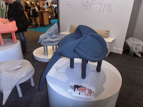 "Photo: Petstools by Hanna Emelie Ernsting. ""...put your feet up, or plunge them into the soft material to warm them."" www.hannaernsting.com #ambiente14"