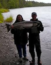 Photo: A fresh Kasilof River King Salmon caught in late July.
