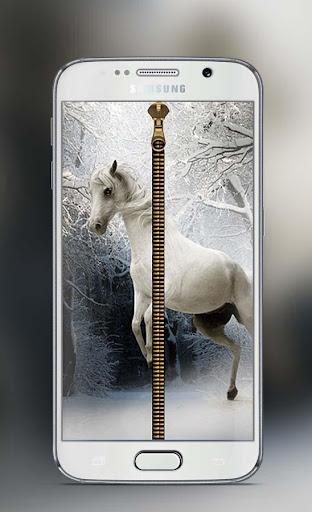 Horse Zipper Lock screen