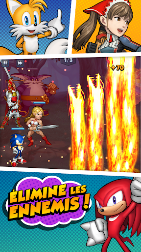 SEGA Heroes: Sonic dans un jeu RPG Match 3 astuce APK MOD capture d'écran 1