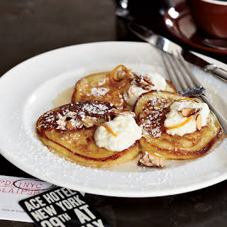 The Breslin's Ricotta Pancakes with Orange Syrup.