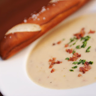 Canadian Cheddar Cheese Soup from Le Cellier.