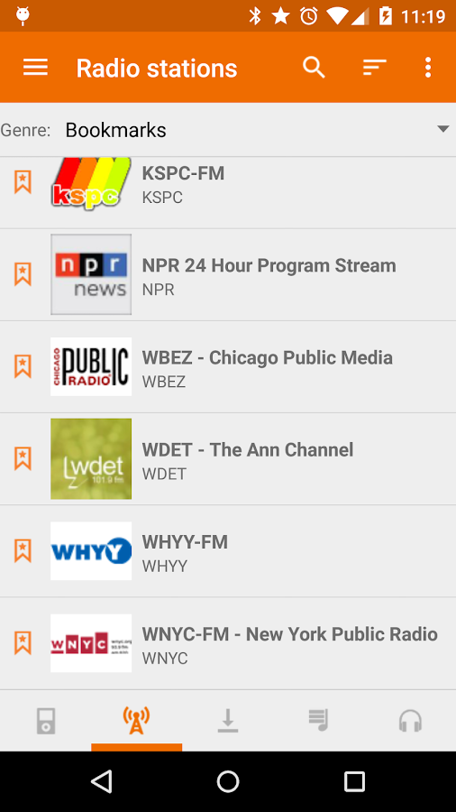 Public Radio & Podcast- screenshot