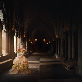Awaiting Time by Christina Smith - Babies & Children Child Portraits ( fantasy, princess, child portrait, beauty and the beast, belle, twisted images photography )
