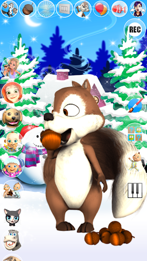 Talking Squirrel Frozen Forest apkmind screenshots 7