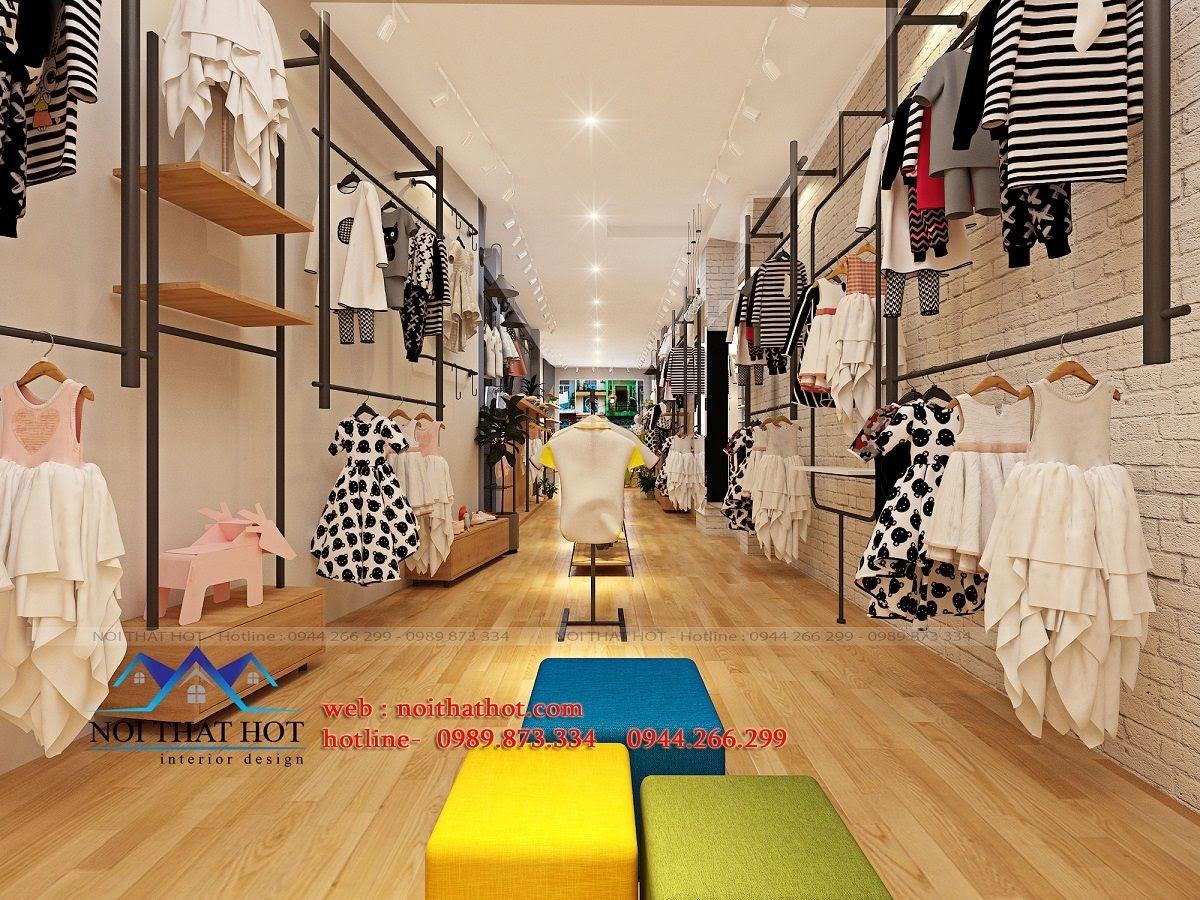 thiết kế shop thời trang trẻ em 24.baby 8