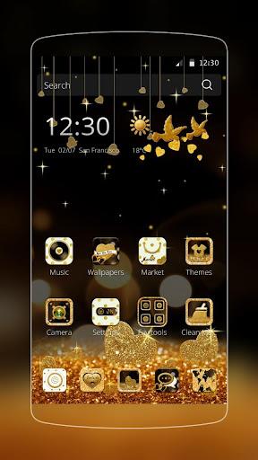 玩免費個人化APP|下載金色星星華爲P9/華爲榮耀主題 金色星星鑽石主題壁紙 app不用錢|硬是要APP
