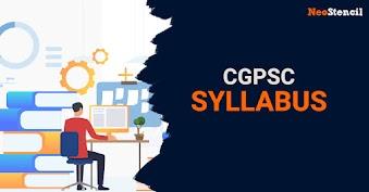 CGPSC Syllabus 2020