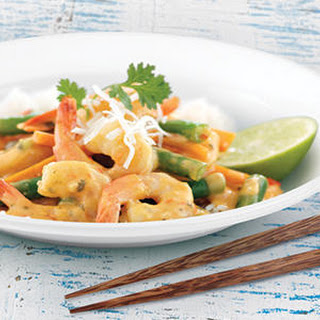 Thai Style Coconut Chilli and Lime Prawns Stir-Fry